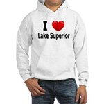 I Love Lake Superior Hooded Sweatshirt