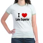 I Love Lake Superior Jr. Ringer T-Shirt