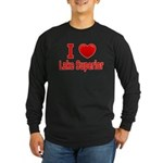 I Love Lake Superior Long Sleeve Dark T-Shirt
