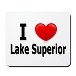 I Love Lake Superior Mousepad