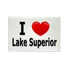 I Love Lake Superior Rectangle Magnet