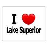 I Love Lake Superior Small Poster