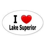 I Love Lake Superior Oval Sticker (50 pk)