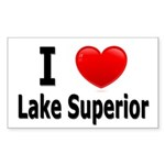 I Love Lake Superior Rectangle Sticker 10 pk)
