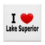 I Love Lake Superior Tile Coaster