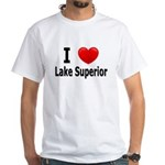I Love Lake Superior White T-Shirt