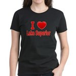 I Love Lake Superior Women's Dark T-Shirt