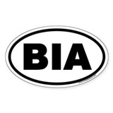 BIA Euro Oval Decal