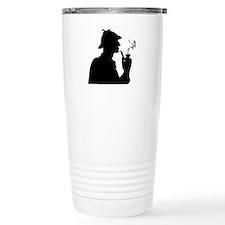 Sherlock, Pondering Travel Coffee Mug