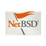 NetBSD Devotionalia + TNF Support Rectangle Magnet