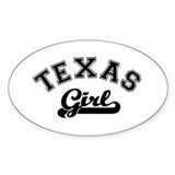 Texas Girl Oval Decal