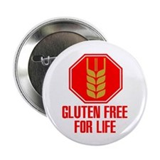 "Gluten Free For Life Stop 2.25"" Button"