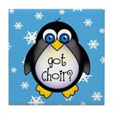 Cute Penguin Choir Tile Coaster