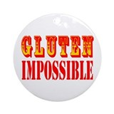 Gluten Impossible Ornament (Round)