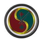 Templar Prosperity Symbol on a Large Wall Clock