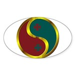 Templar Prosperity Symbol on a Sticker (Oval 10 pk