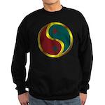 Templar Prosperity Symbol on a Sweatshirt (dark)