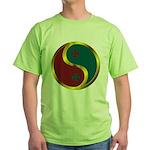 Templar Prosperity Symbol on a Green T-Shirt