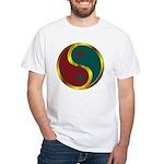 Templar Prosperity Symbol on a White T-Shirt