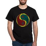 Templar Prosperity Symbol on a Dark T-Shirt
