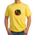 Templar Prosperity Symbol on a Yellow T-Shirt
