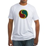 Templar Prosperity Symbol on a Fitted T-Shirt