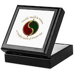 Templar Prosperity Symbol on a Keepsake Box