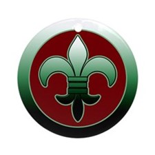 Gorgeous Fleur de Lis Christmas Ornament