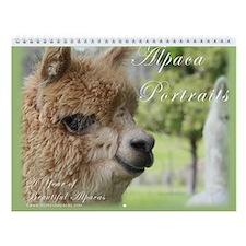 Alpaca Portraits - Wall Calendar