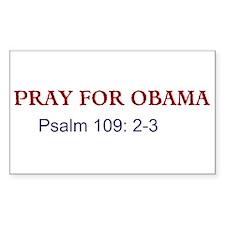 Pray for Obama (Rectangle)