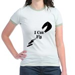 I Can Fly Kite Surfing Shirt Jr. Ringer T-Shirt