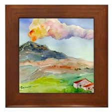 Sicilian Mt. Etna Framed Tile