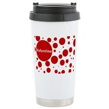 Valentine dots Stainless Steel Travel Mug