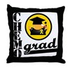ChemoGradChildhoodCancer Throw Pillow