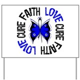 Colon Cancer Faith Yard Sign