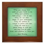 irish blessing (sq) Framed Tile