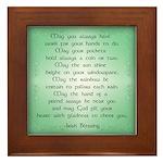 irish blessing (sq) Framed Tile