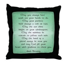 irish blessing (sq) Throw Pillow