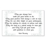 irish blessing (sq) Sticker (Rectangle)