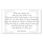 irish blessing (sq) Sticker (Rectangle)