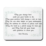 irish blessing (sq) Mousepad