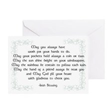 irish blessing (sq) Greeting Card