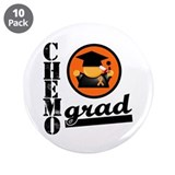 "Chemo Grad Leukemia 3.5"" Button (10 pack)"