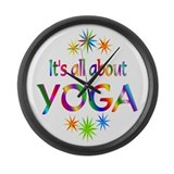 Yoga Large Wall Clock