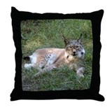 Siberian Lynx Throw Pillow