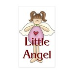 Little Angel Whimsy Design Rectangle Sticker