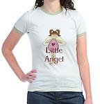 Little Angel Whimsy Design Jr. Ringer T-Shirt