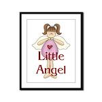 Little Angel Whimsy Design Framed Panel Print