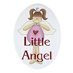 Little Angel Whimsy Design Oval Ornament