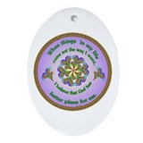 Quotations - Affirmations Oval Ornament